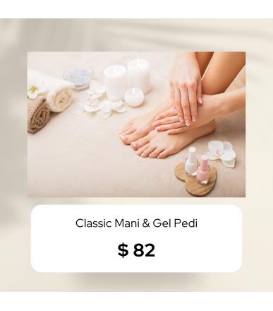 Classic Manicure & Gel Pedicure (Outcall)
